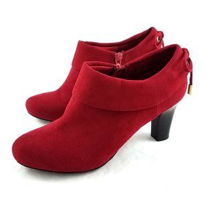 Coach And Four Red Suede Ankle Boots Booties